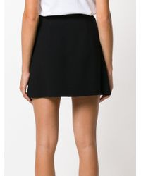 Miu Miu Black Stitch Detail Skirt