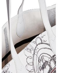Burberry - White Large Reversible Doodle Print Tote - Lyst
