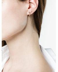 Yvonne Léon - Metallic Pink And Gold Nano Puce Poire Saphir Rose Earring - Lyst