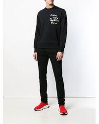 Versus  - Black 'Gianni Gave' Sweatshirt for Men - Lyst