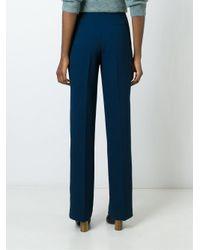 Tory Burch - Blue Wide Leg Trousers - Lyst