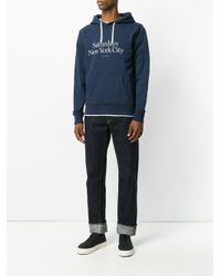 Saturdays NYC - Blue Logo Hoodie for Men - Lyst