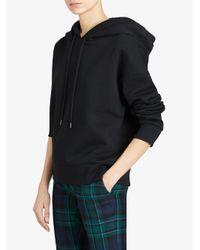 Burberry - Black Embroidered Hood Sweatshirt - Lyst