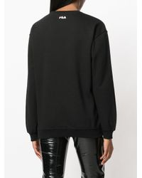 Fila - Black Logo Sweatshirt - Lyst
