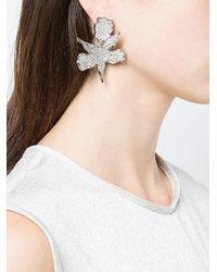 Lele Sadoughi - Metallic Oversized Flower Earrings - Lyst