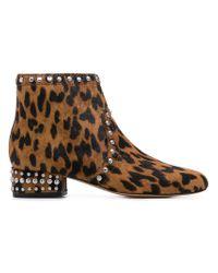 428b3f159 Sam Edelman Leopard Print Boots in Brown - Lyst