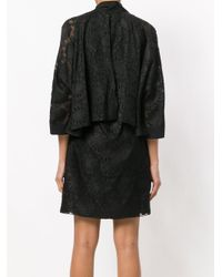 Fendi - Black Daisy Motif Dress - Lyst