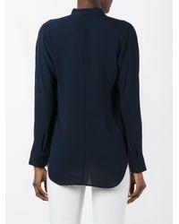 Polo Ralph Lauren - Blue Plain Blouse - Lyst