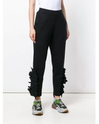 Stella McCartney Black Frilled Knit Trousers