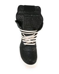 Rick Owens - Black Geobasket Hi-top Sneakers for Men - Lyst