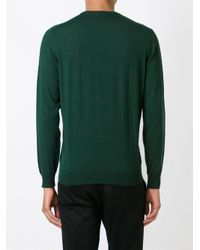 Drumohr - Green Crew Neck Sweater for Men - Lyst
