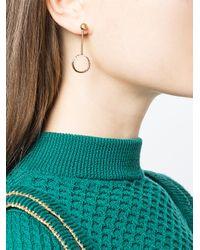 Yvonne Léon - Metallic Circular Drop Pearl Earring - Lyst
