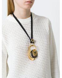 Marni - Black Circle Pendant Necklace - Lyst