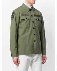 Kent & Curwen - Green Flap Pocket Military Jacket for Men - Lyst