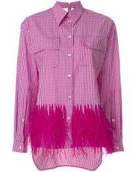 N°21 - Pink No21 Embellished Gingham Shirt - Lyst