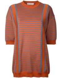 Marni | Orange Striped Knitted Sweater | Lyst