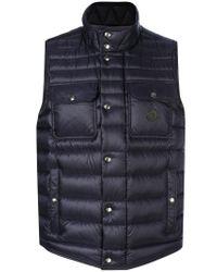 Moncler | Blue Quilted Effect Vest for Men | Lyst
