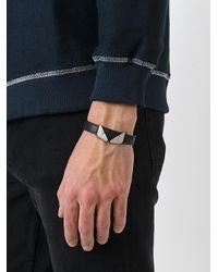 Fendi - Black Eye Embellished Bracelet for Men - Lyst