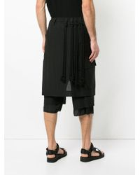 Song For The Mute - Black Slouched Cropped Trousers for Men - Lyst