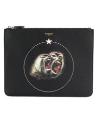 Givenchy - Black Monkey Brothers Printed Pouch for Men - Lyst