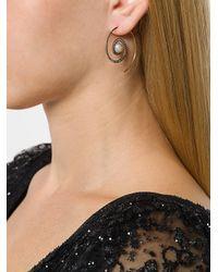 Noor Fares - Metallic Spiral Moon Earrings - Lyst