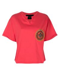 Mr & Mrs Italy - Pink Neck Slit Patched T-shirt - Lyst