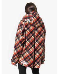 Gucci - Red Logo Tartan Coated Cotton Windbreaker - Lyst
