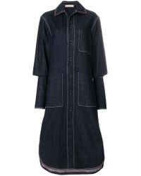 Marni - Blue Long Denim Coat - Lyst