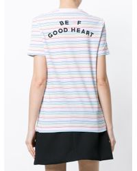 Être Cécile - Multicolor Striped Logo T-shirt - Lyst