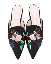 Alberta Ferretti - Multicolor Bird Patch Slippers - Lyst