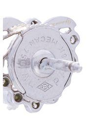 Yvonne Léon - Metallic Feuillage Diamond Stud Earring - Lyst