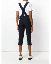 Comme des Garçons Blue Short Suspender Trousers
