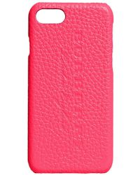 Burberry - Pink Embossed Logo Iphone 7 Case - Lyst