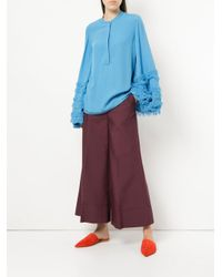 Roksanda - Purple Tailored Palazzo Trousers - Lyst