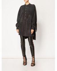 Faith Connexion - Black Oversized Shirt Dress - Lyst