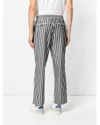 AMI - Black Elastized Carrot Fit Trousers for Men - Lyst