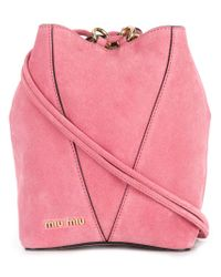 Miu Miu - Pink Small Bucket Bag - Lyst