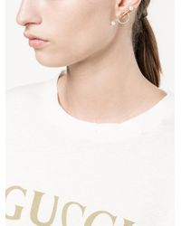 Yvonne Léon | Metallic Circle Bar Stud Earrings | Lyst