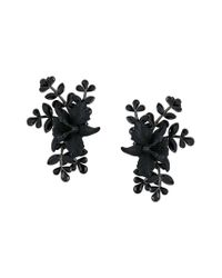 DSquared² - Black Floral Earrings - Lyst