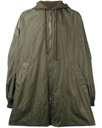 Juun.J - Green Hooded Oversized Coat for Men - Lyst
