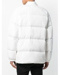 Adidas Originals White Zipped Puffer Jacket for men