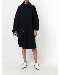 Issey Miyake | Black Oversized Cowl Neck Dress | Lyst