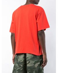 Off-White c/o Virgil Abloh - Red T-Shirt mit Print for Men - Lyst