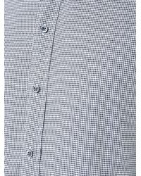 Kent & Curwen - Gray Houndstooth Print Poplin Shirt for Men - Lyst