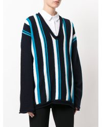 Marni - Blue Oversized Striped Sweater - Lyst