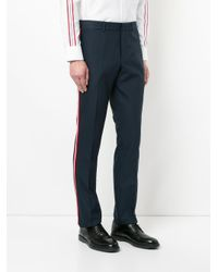 CK Calvin Klein - Blue Tailored Fitted Trousers for Men - Lyst