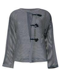 Emporio Armani - Blue Striped Jacket - Lyst