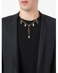 Gavello - Metallic Cross Charm Necklace - Lyst