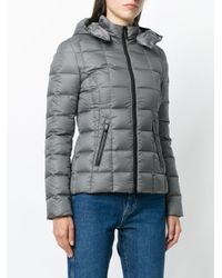 Rossignol - Gray Hooded Padded Jacket - Lyst