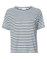 Anine Bing - Blue Striped T-shirt - Lyst